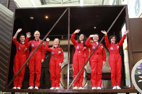 Les participantes à l'expérience spatiale.