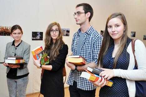 Les participants du concours de langue russe à Bruxelles.