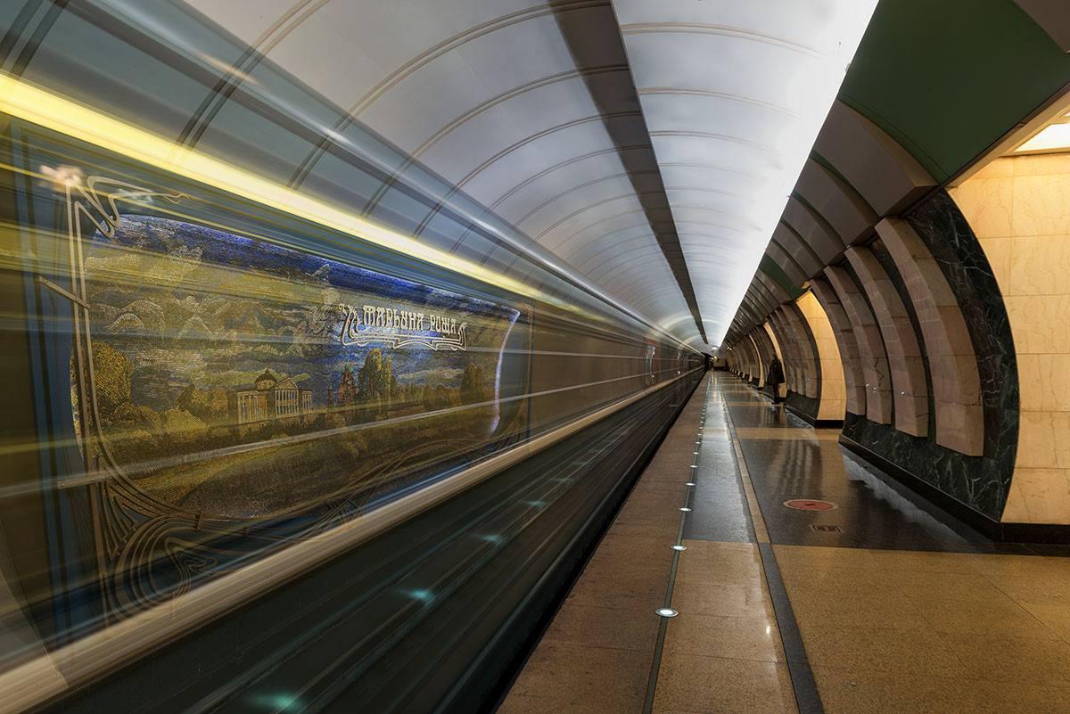 « Notre métro a été conçu comme un palais pour le peuple vainqueur (dans la Grande Guerre Patriotique, ndlr). Le contraste entre ce que nous voyions dans le métro et à la maison était si immense que les Moscovites éprouvaient une énorme dévotion envers leur métro », se souvient-il. Sur la photo : station Marina Rochtcha