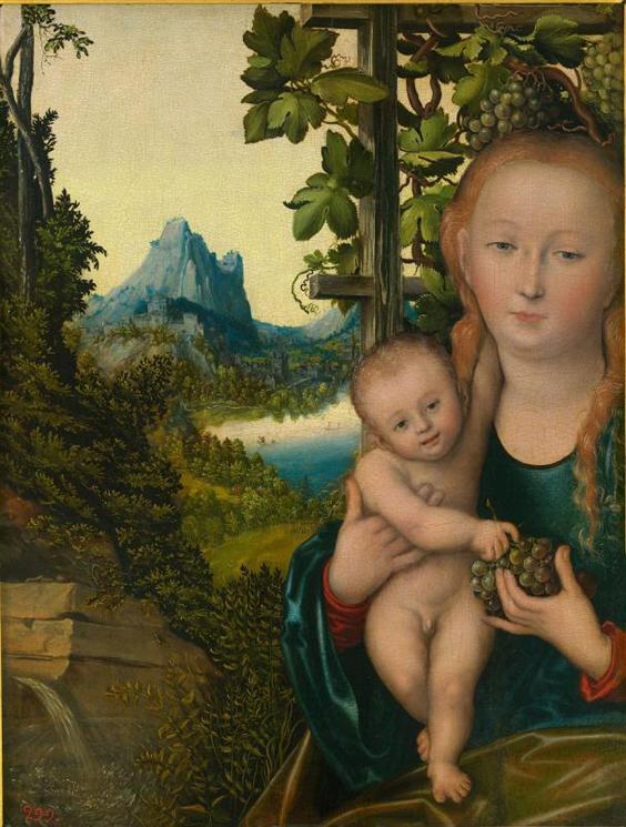 "Lucas Cranach d. Ä., ""Madonna mit Kind""."