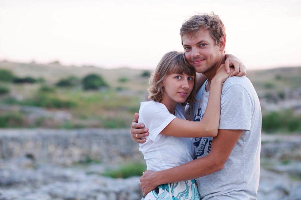 Олга и Јевгениј. Фотографија из личне архиве.