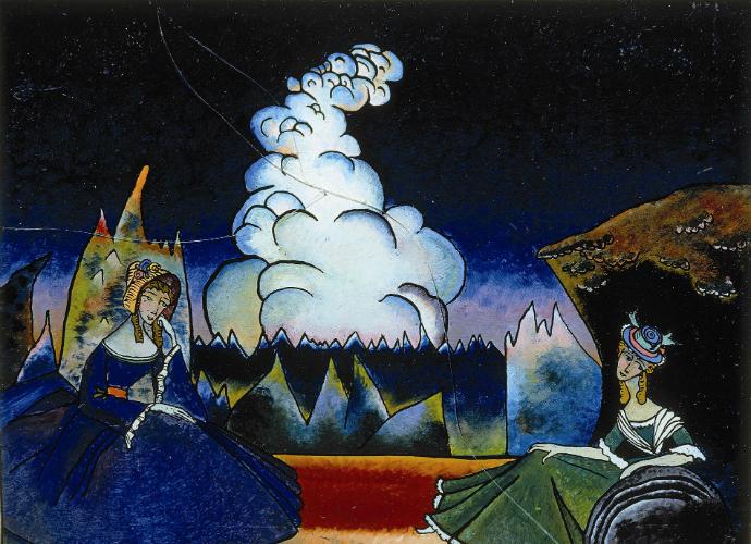 Nuage blanc, exposition Vassili Kandinsky et la Russie.n