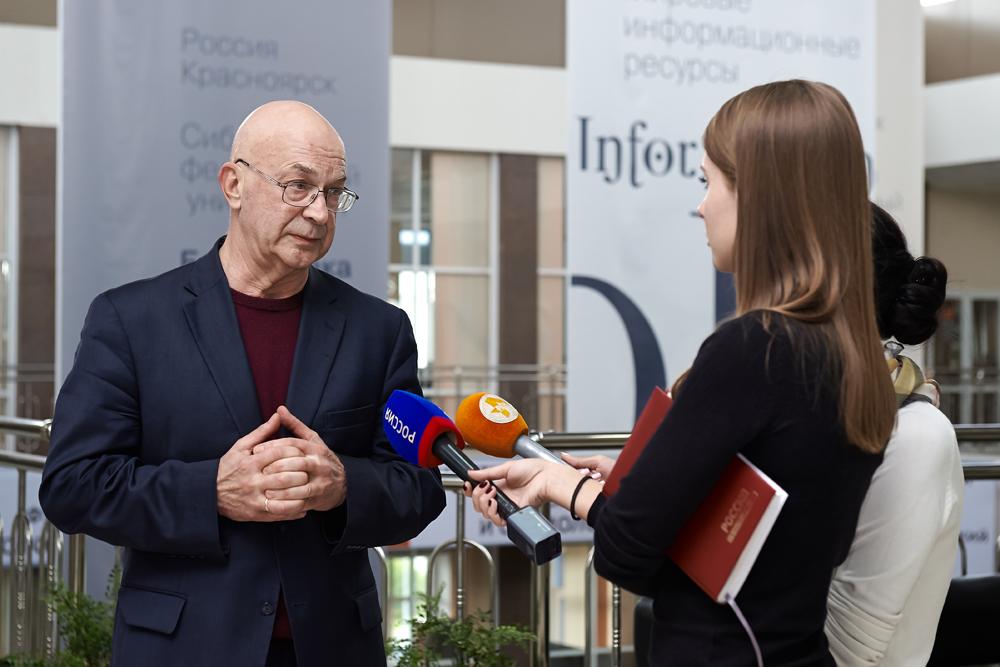 Evgueni Vaganov, académicien à l'Académie russe des sciences et recteur de la SFU.n