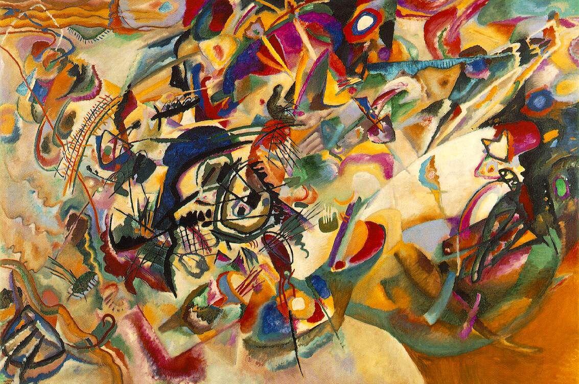 Composition VIIde Kandinsky,exposition Vassili Kandinsky et la Russie.n