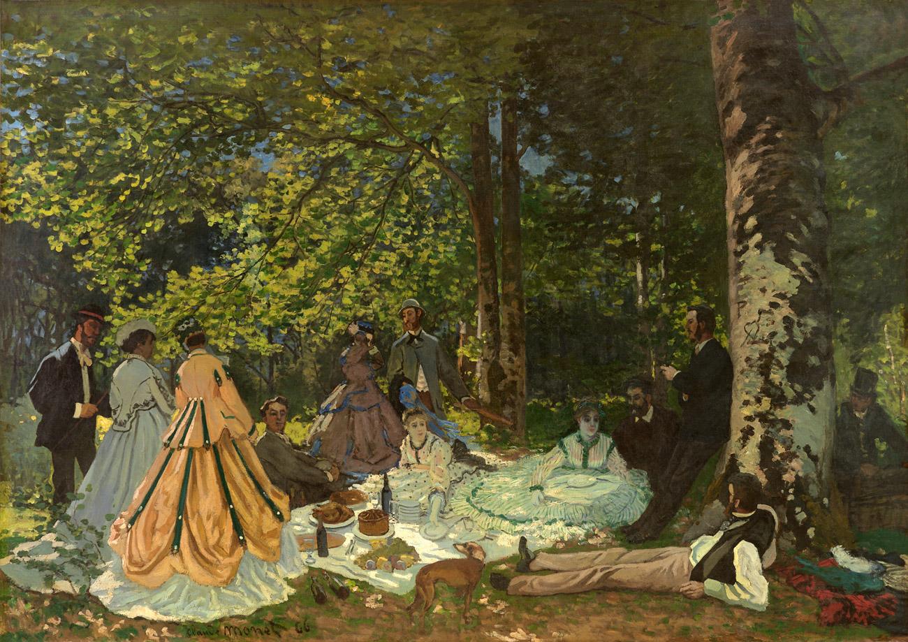 Claude Monet, Le Déjeuner sur l'herbe, 1866.n