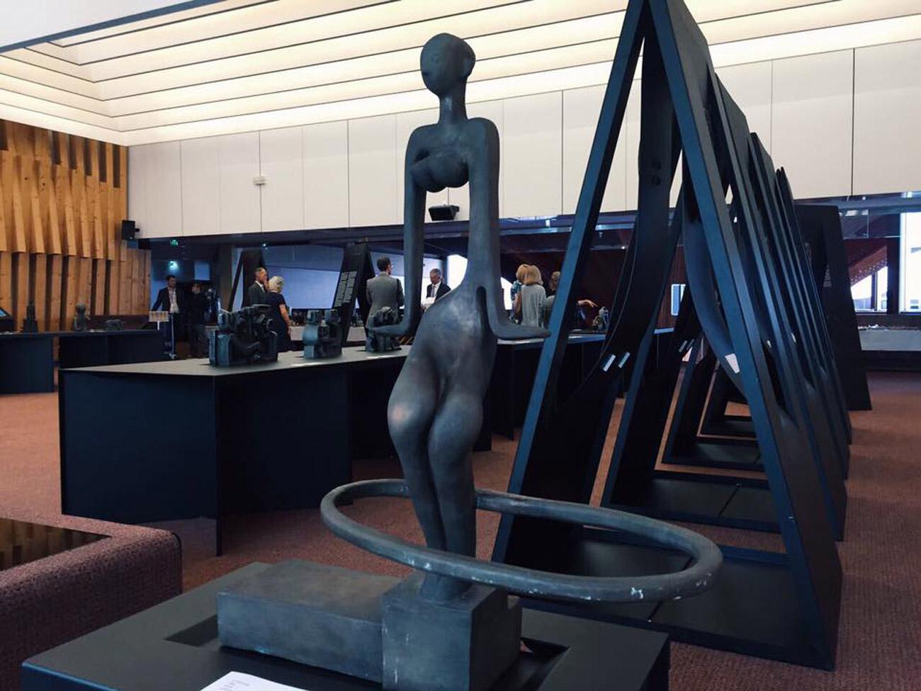 L'exposition Guerre et paix au Palais de l'Europe de Strasbourg.