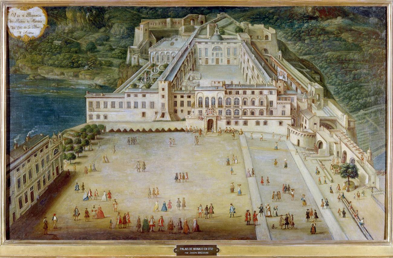 Dominique-Joseph Bressan. Palais de Monaco en 1732.