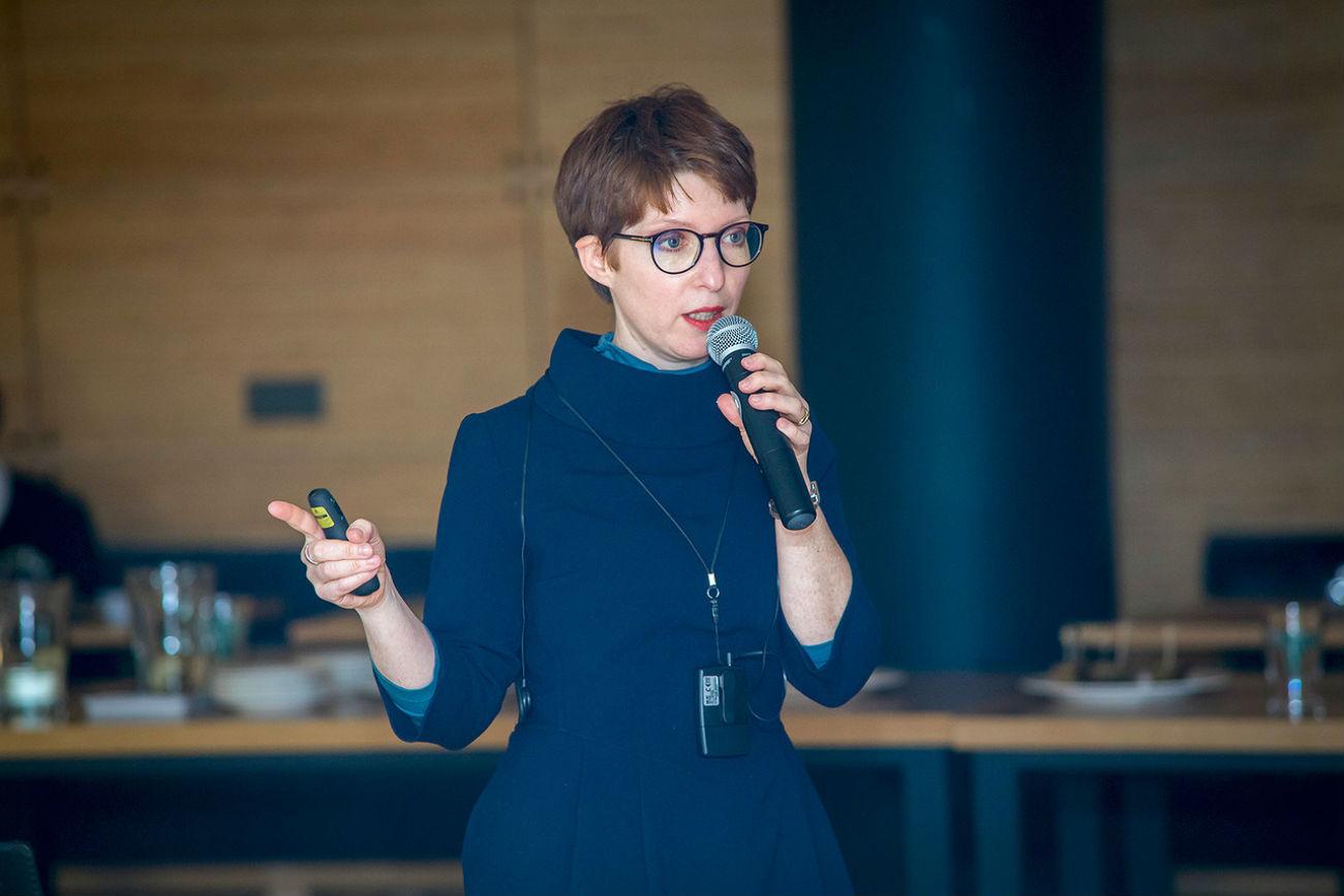 Anne-Claire Laronde, directrice de la Cité de la dentelle et de la mode, à Calais. Crédit : Fondation caritative Vladimir Potanine