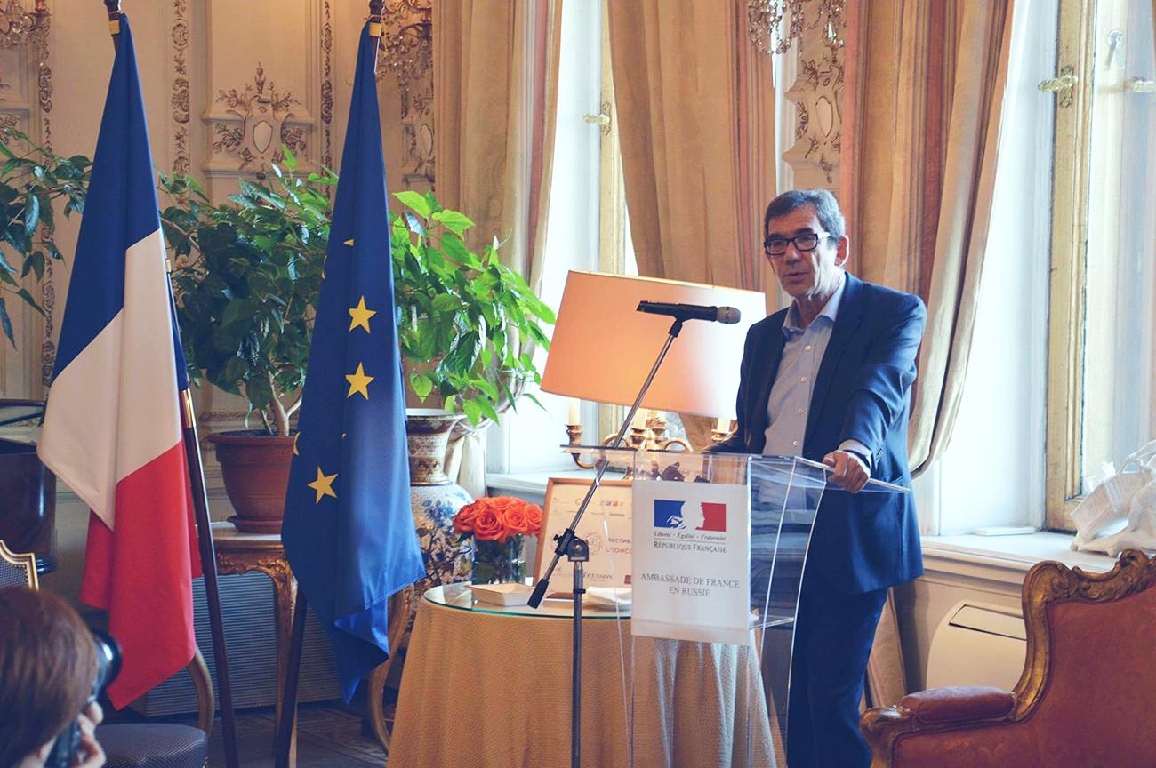 Jean-Maurice Ripert lors de la conférence de presse à l'occasion du Festival Goût de France.