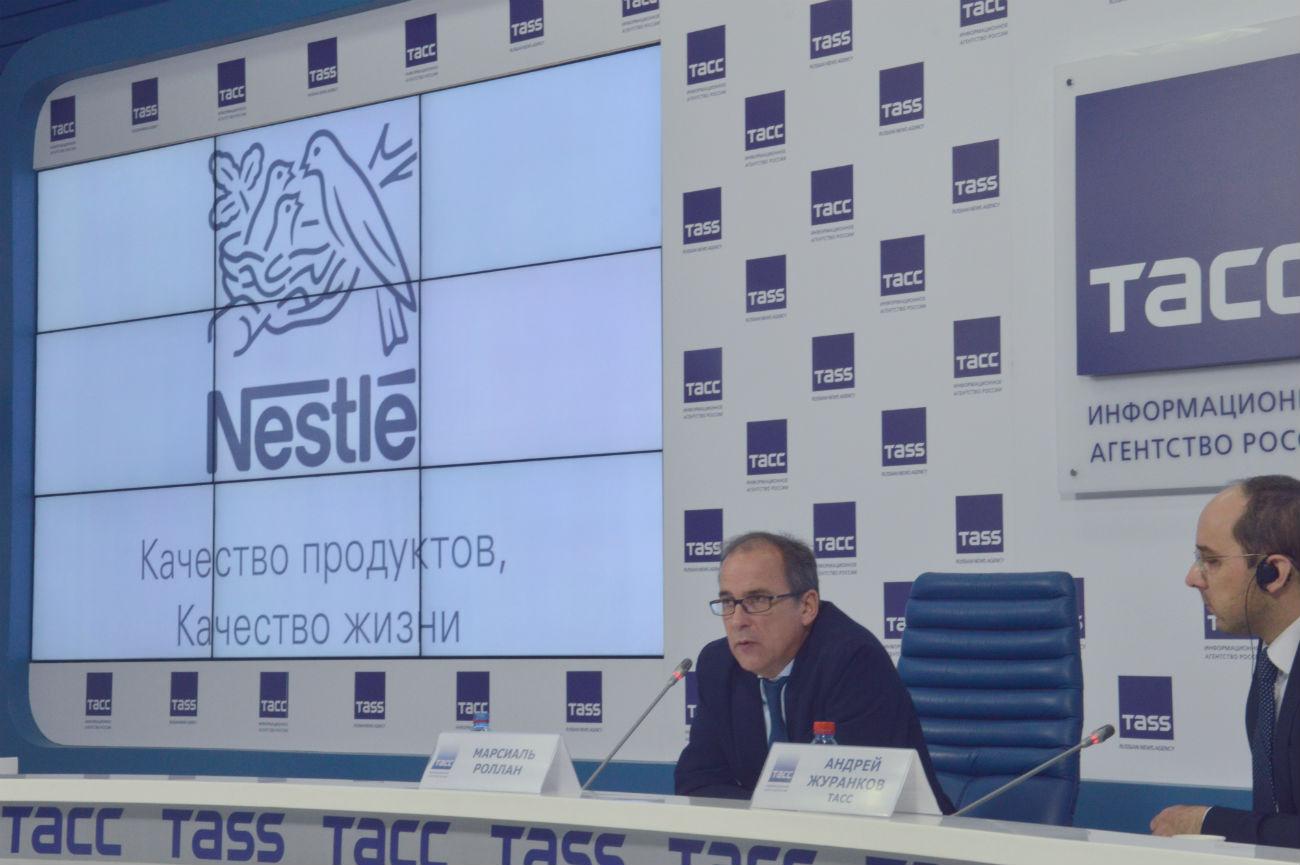 Martial Rolland, directeur de Nestlé pour la région Russie-Eurasie. Crédit : Erwann Pensec