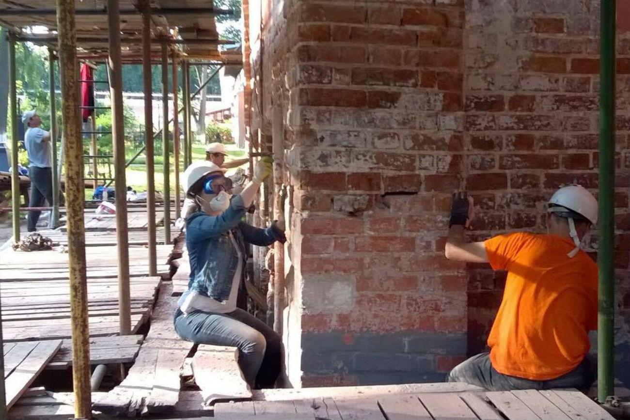Chantier du monastère Donskoï. Crédit: Service de presse