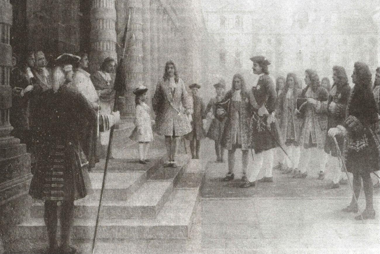 Pierre le Grand à Versailles, 1717.