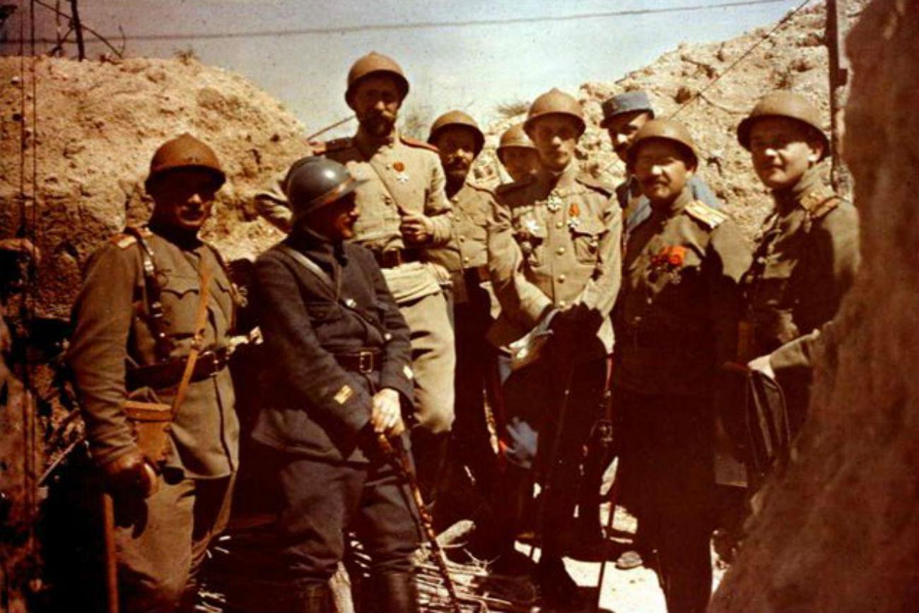 Corps expéditionnaire russe en France. Crédit: Domaine public