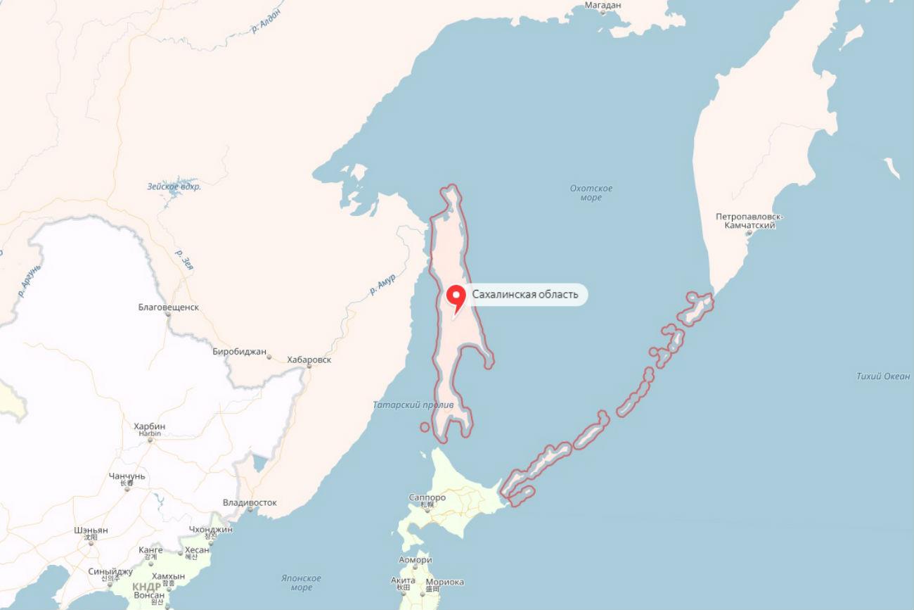 Pulau Sakhalin pada Yandex.Maps