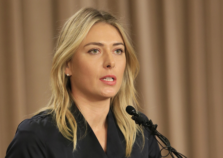 Maria Sharapova lors de la  conférence de presse du 7 mars.