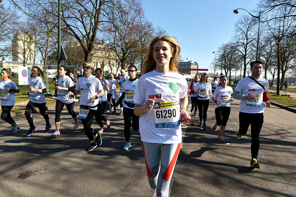 Edition 2015 du semi-marathon de Paris.