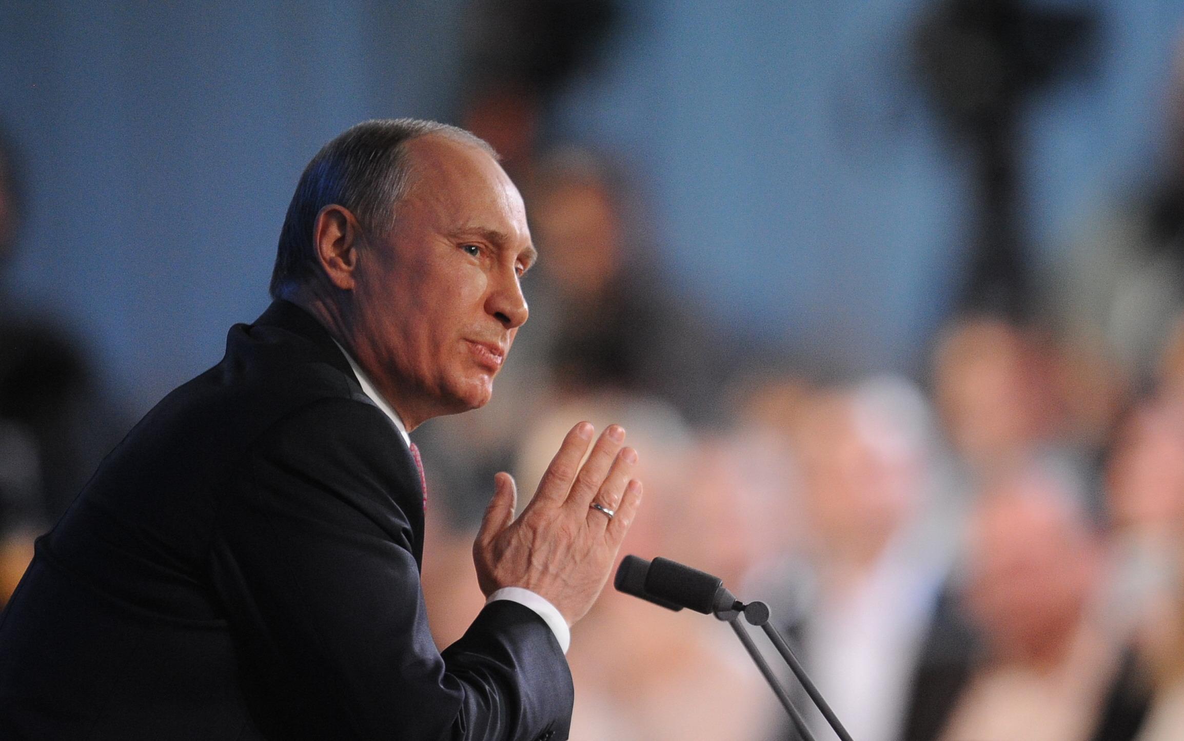 El presidente ruso, Vladímir Putin, hizo las declarciones durante una reunión con miembros de su administración. Fuente: ITAR-TASS.