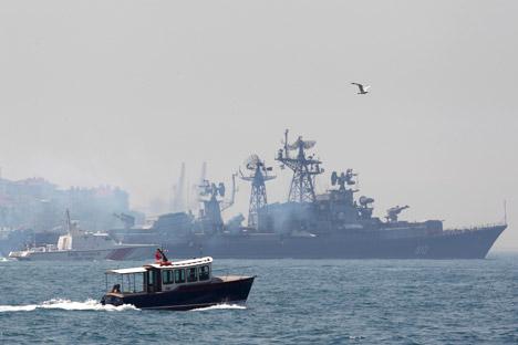 """Segundo porta-voz da Marinha, Rússia tem """"cinco ou seis navios permanentemente posicionados no Mediterrâneo"""" Foto: Reuters"""