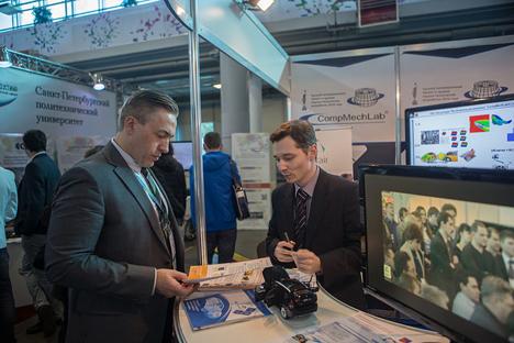 Mitarbeiter des Zentrums für Technologietransfer an der  Sankt Petersburger Polytechnischen Universität.  Foto: Pressebild
