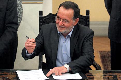 Ministro da Reforma Industrial, do Meio Ambiente e da Energia da Grécia, Panagiotis Lafazanis Foto: EPA/Vostock-photo