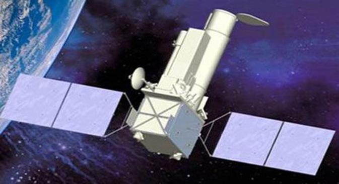 "Rusko-njemački rendgenski-gama orbitalni teleskop ""Spektar-RG"". Ilustracija: Znanstveno-proizvodno udruženje ""N. A. Lavočkin""."