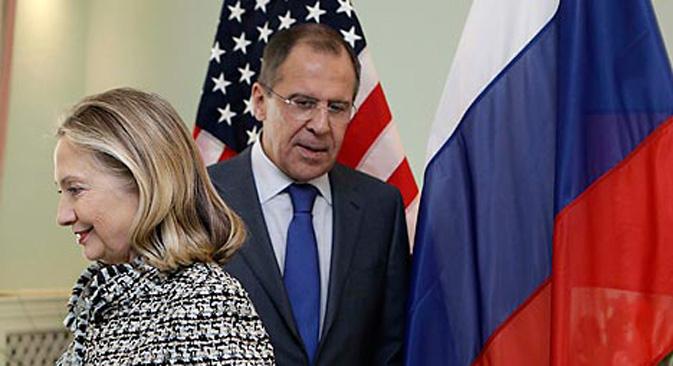 """Hillary Clinton posvetila je dio svog govora ovogodišnjim izborima: pohvalila je Gruziju, a za izbore u Ukrajini je rekla da je to """"udaljavanje od demokracije"""". Izvor: AP."""