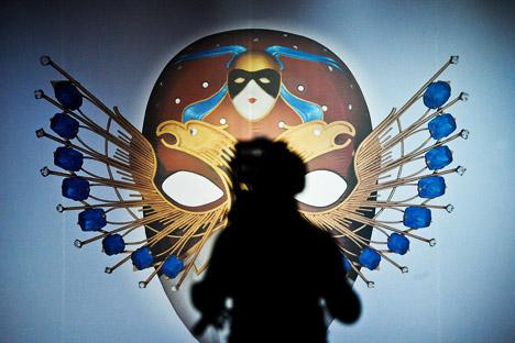 Emblem festivala: zlatna maska. Izvor: ITAR-TASS
