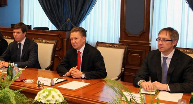 Aleksej Miller (lijevo). Izvor: gazprom.ru
