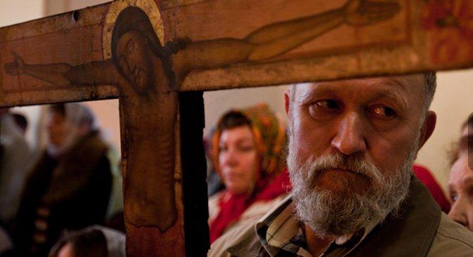 Crkvena služba Rusa Lipovana. Fotografija: Maksim Avdejev.