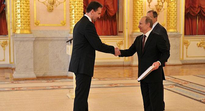 Predsjednik Putin primio je akreditivna pisma od veleposlanika Republike Hrvatske Igora Pokaza i veleposlanika drugih država, nakon čega je održao zanimljiv govor. Fotografija: služba za odnose s javnošću Predsjednika Rusije.