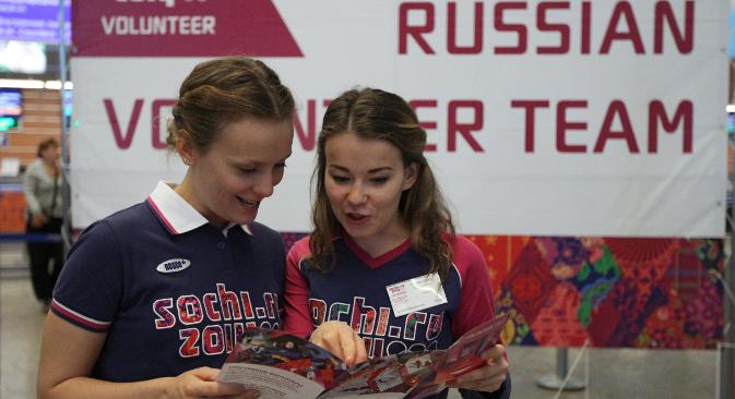 """Ruski volonteri na Olimpijskim igrama u Londonu 2012. Izvor: RIA """"Novosti"""" / Valerij Meljnikov."""