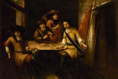 Nepoznati nizozemski umjetnik: Govor Petra I u Nizozemskoj (oko 1690). Izvor: Hermitage Amsterdam.