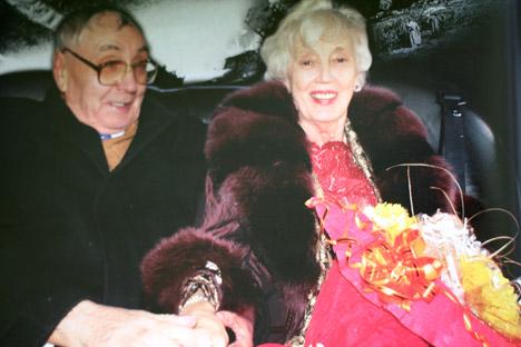 "Ivan Bivših i Elisabeth Waldhelm na dan svojeg vjenčanja. Časopis: ""Neizvestnaja Sibir""."