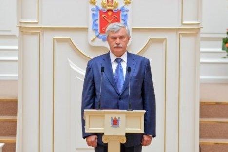 Gubernator Sankt-Peterburga Georgij Poltavčenko. Izvor: Dmitrij Koščejev/ Rossijskaja gazeta