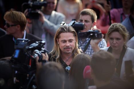 Brad Pitt stigao je u Moskvu na predstavljanje svog novog filma. Izvor: Elena Početova