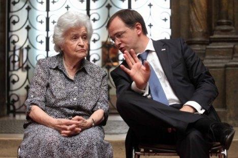 Irina Antonova i ministar kulture Rusije Vladimir Medinski. Izvor: Olesja Kurpjaeva / Rossijskaja gazeta