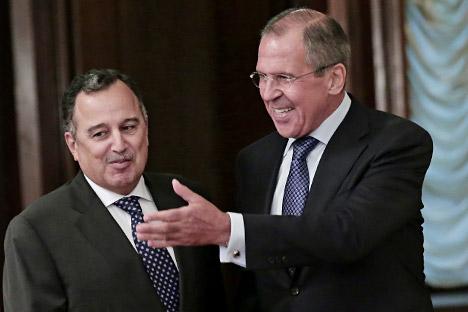 Ministri vanjskih poslova Egipta i Rusije, Nabil Fahmi i Sergej Lavrov. Izvor: ITAR-TASS