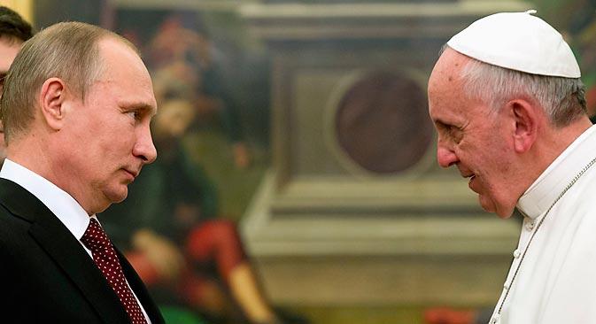 Susret ruskog predsjednika s novim rimskim papom nije bio samo formalnost. Izvor: Reuters
