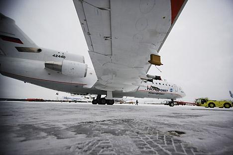 """Znanstvenoistraživačka aparatura zrakoplova Jak-42D """"Rosgidromet"""", zajednički projekt cijelog niza ruskih instituta omogućuje mjerenja do tisuću atmosfernih parametara. Izvor: RIA Novosti"""