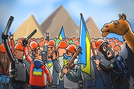 Iskustvo revolucije u Tunisu i Egiptu prisilit će Rusiju da se brine o daljnjoj sudbini Ukrajine. Izvor: Konstantin Maler