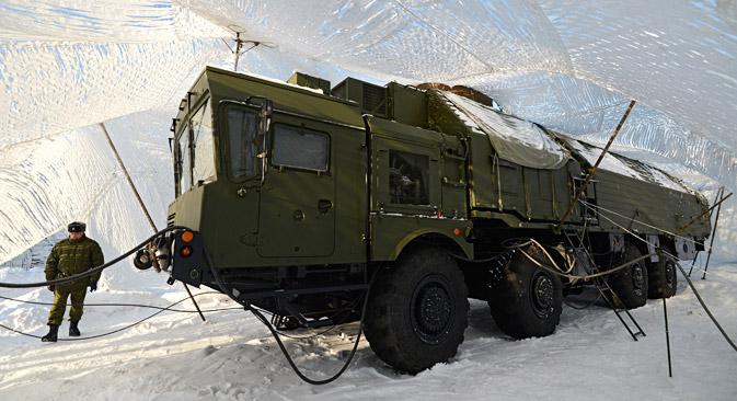 Maskirna zaštita raketnih jedinica u Novosibirskoj oblasti. Izvor: Aleksandar Krjažev / RIA Novosti