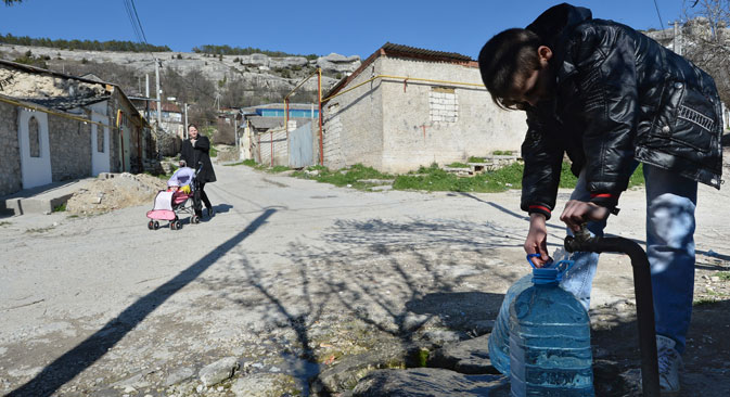 Za vikend ukrajinske vlasti obustavile su snadbijevanje poluotoka pitkom vodom. Izvor: Ria-Novosti