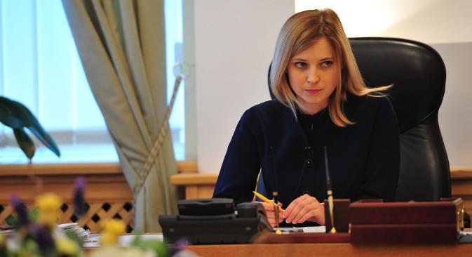 Vrhovni savjet Krima je 11. ožujka 2014. državnom tužiteljicom Republike Krim imenovao tridesettrogodišnju Nataliju Poklonsku. Izvor: ITAR-TASS