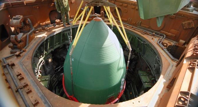 Foto: Rusko-ukrajinska raketa-nosač Dnjepar, konstruirana na osnovu tehnologija interkontinentalne balističke rakete RS-20 (15A18) (Satana po klasifikaciji NATO-a). Izvor: ITAR-TASS