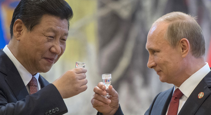 Predsjednik RF Vladimir Putin i generalni tajnik CK Komunističke partije NR Kine Xi Jinping. Ria Novosti