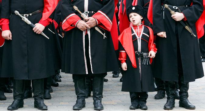 Uniforma današnjih kozaka. Izvor: Reuters