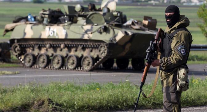 Ukrajinski vojnik u okolini Slavjanska. Izvor: Reuters.