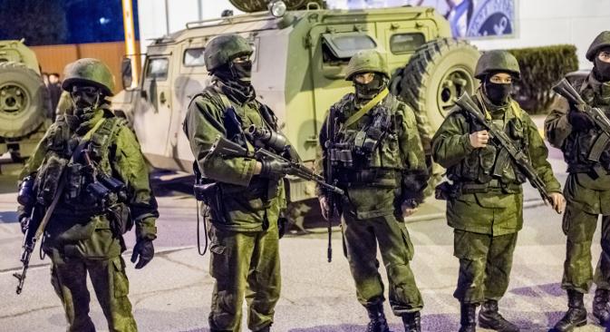 """""""Ljubazni ljudi"""" na Krimu u ožujku 2014. Izvor: RIA Novosti"""