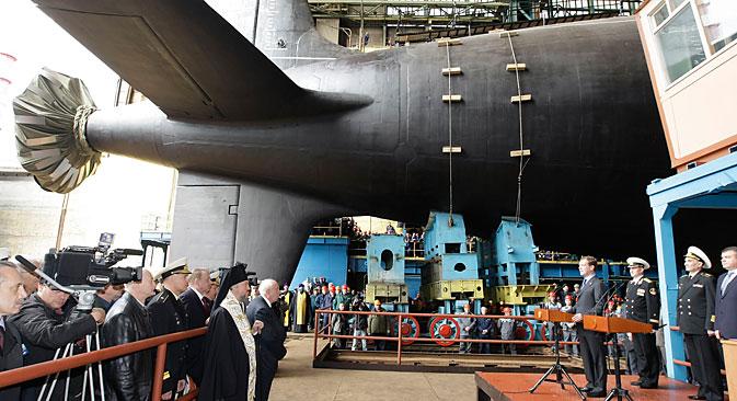 Severodvinsk, glavna podmornica projekta Jasen, koja će danas, 17. lipnja, stići u redove Vojno-morske flote Rusije, zapravo označava smjenu svih dosad izgrađenih podmornica.Izvor: RIA Novosti/Vladimir Rodionov