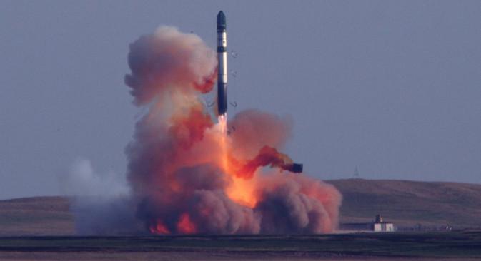 I poslije 50 godina od uvođenja u vojnu uporabu, raketa R-36M2 i dalje je spremna djelovati. Izvor: mil.ru.